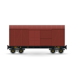 Closed Wagon Isolated on White vector image vector image