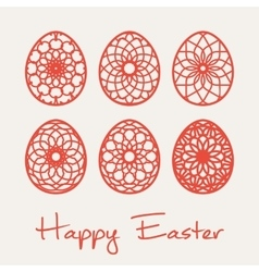 Easter ornamental eggs vector image vector image