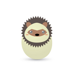Easter porcupine egg vector