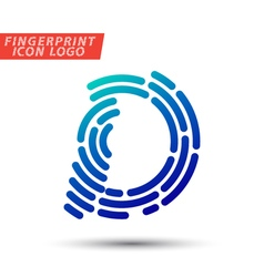 Fingerprint logo font 04 vector