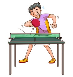 Pingpong player playing at the table vector image
