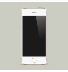 Realistic white mobile phone with blank screen vector