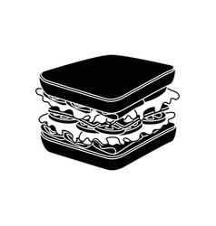 Sandwich delicious food vector