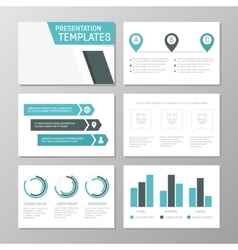 Set of turquoise template for multipurpose vector