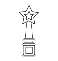 Star trophy winner champion icon vector