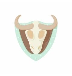 Stuffed bull icon cartoon style vector