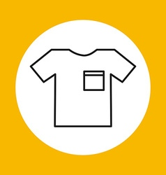 t-shirt icon design vector image