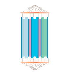 the colorful hammock vector image vector image