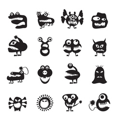 various abstract monsters vector image