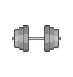 Barbell icon black monochrome style vector