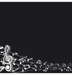 Abstract music background image vector