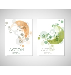 Connect templates for brochure flyer vector
