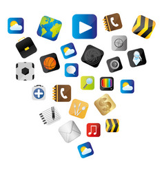 Set buttons variety global communicate elements vector