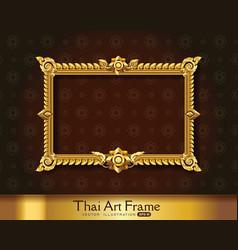 thai art frame border vector image