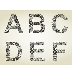 Alphabet business2 vector image