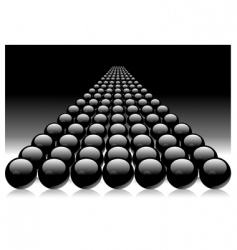 black balls vector image