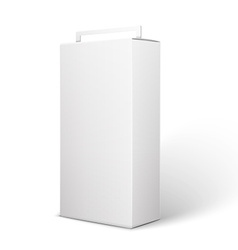 White product package box isolated on white vector