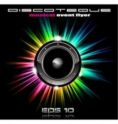 music disco vector image