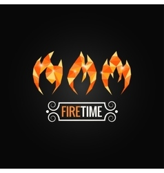 Fire poly design background vector