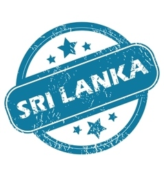 Sri lanka round stamp vector