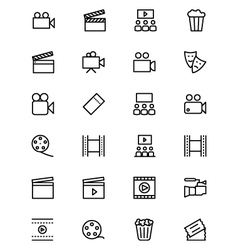 Cinema line icons 1 vector