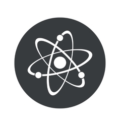 Monochrome round atom icon vector