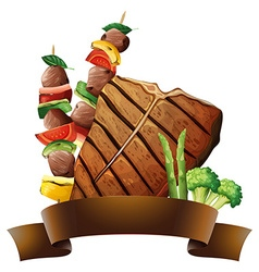 Beef and banner vector image