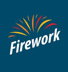 Abstract logo multicolored fireworks vector image