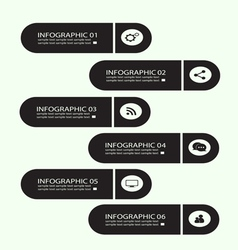 Infographic buttons black vector