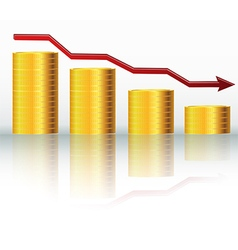 Financial concept declining graph vector