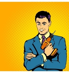 Businessman with drill comics style vector