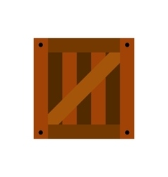 Wooden box icon vector
