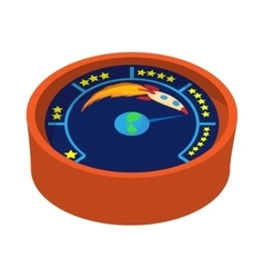 Speed meter with rocket icon cartoon style vector