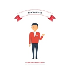 Merchandiser man competence and decency vector