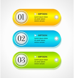 Shine horizontal colorful options banners vector