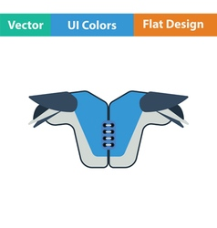 American football chest protection icon vector