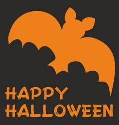 Happy halloween party card with bat and wishes vector