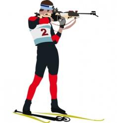 biathlon runner vector image vector image