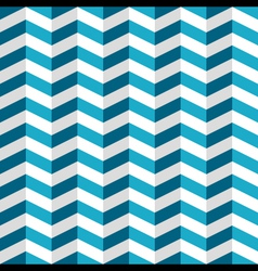 Blue and white chevron seamless pattern vector image vector image