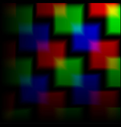 Blurred background of the squares on the neon vector