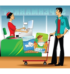 Buyer and seller vector image