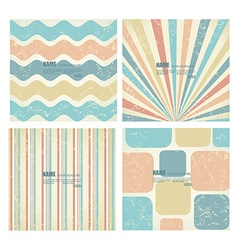 Collection of backgrounds in retro style vector image vector image