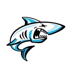 Color shark icon vector