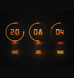 counter timer countdown website template vector image