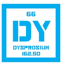 Dysprosium chemical element vector image vector image