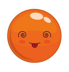 Emoticon face design vector