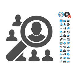 find user flat icon with free bonus elements vector image vector image