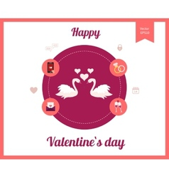 Flat design set for icons for Valentines day vector image vector image