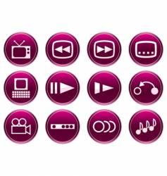 gadget icon set vector image vector image