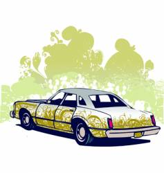 Graffiti car vector
